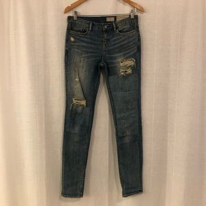 Distressed All Saints Jeans